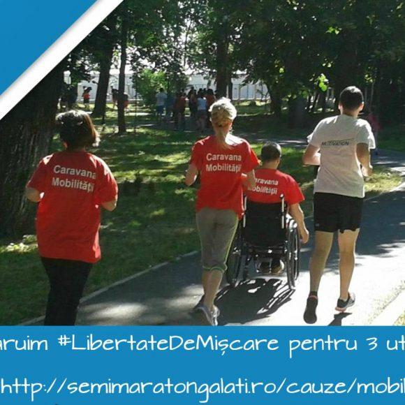 George aleargă în scaun rulant pentru mobilitate și viață independentă