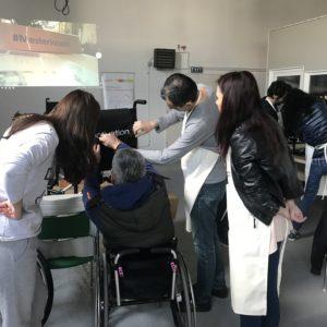 Team building de asamblare de scaune rulante