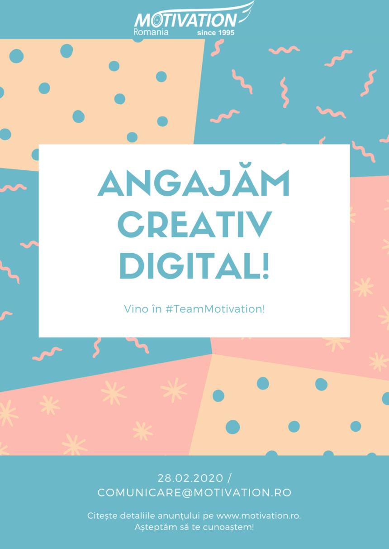 Fundația Motivation România angajează Responsabil Comunicare Digitală