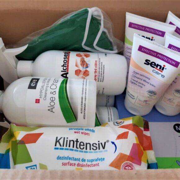 Health care products for wheelchair users, offered with the help of SMS donors