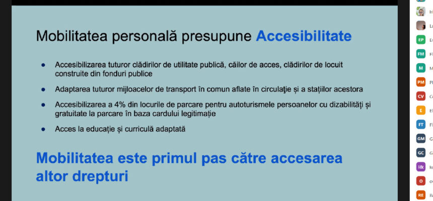 People with disabilities learn to be proactive and to demands rights before the authorities