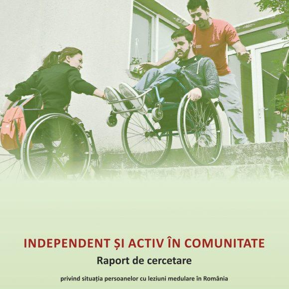 """Comunicat de presă: Lansarea raportului de cercetare """"INDEPENDENT ȘI ACTIV ÎN COMUNITATE"""" privind situația persoanelor cu leziuni medulare în România"""