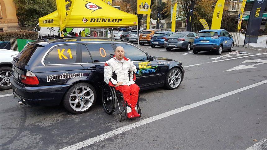 Primul pilot de curse în scaun rulant din România!