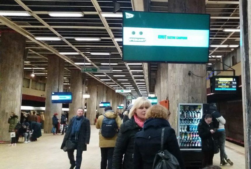 """Campania """"#PeBune?""""a ajuns și în stațiile de metrou din București"""
