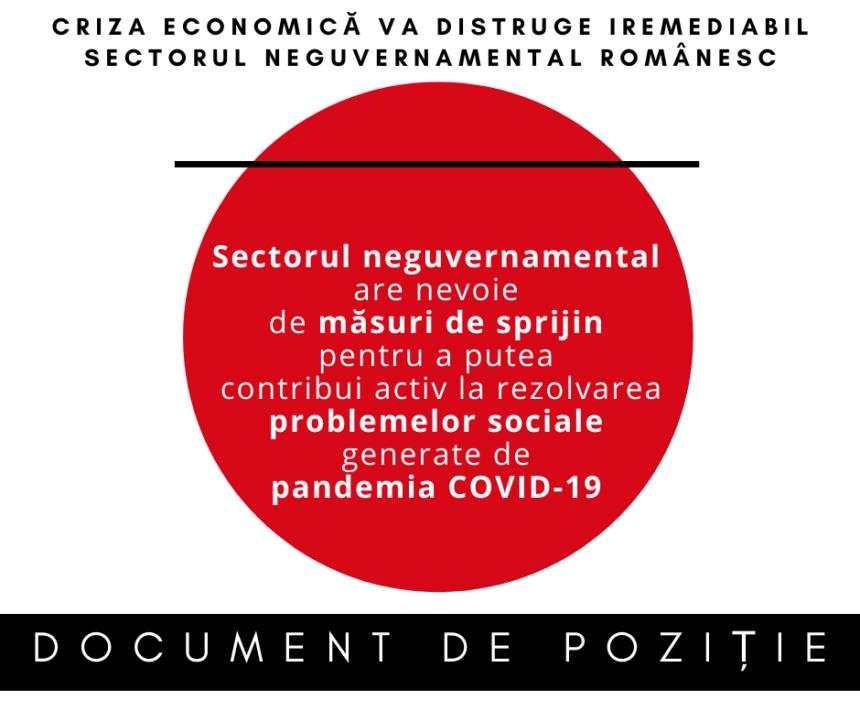 Criza economică va distruge iremediabil sectorul neguvernamental. Cerem sprijinul Guvernului pentru a ne continua misiunea socială