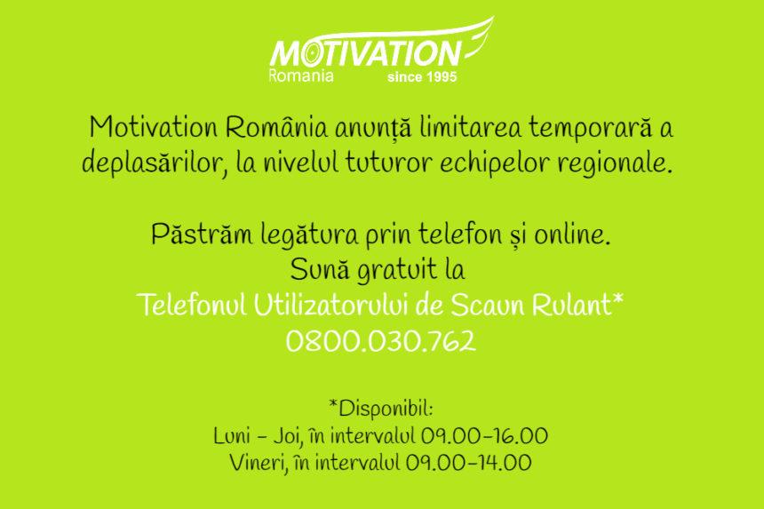 Modificări în desfășurarea activităților Motivation