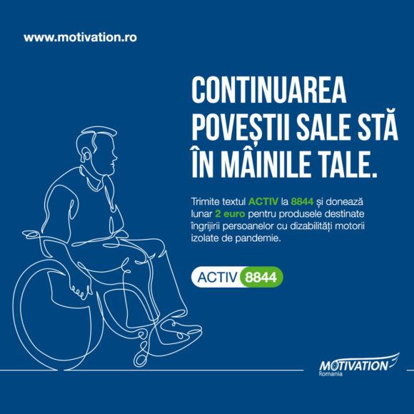 Campania de donații prin SMS își direcționează fondurile către produse de îngrijire pentru persoanele cu dizabilități motorii