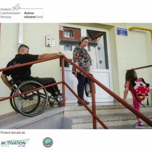 Utilizatorii de scaune rulante vor promova activ incluziunea în comunitățile lor