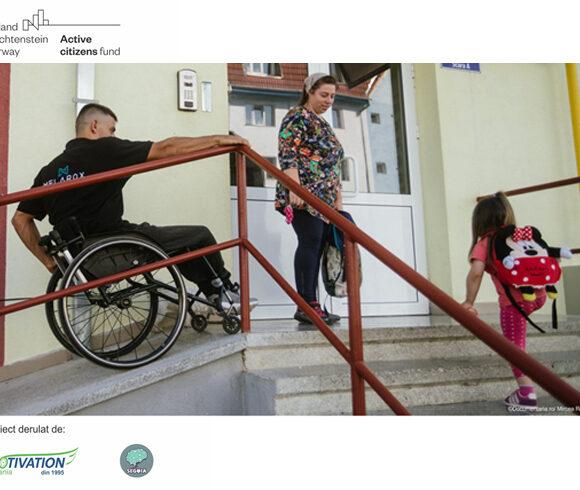 Dizabilitate și incluziune este noua opțiune din aplicația Panoul de Bord pentru sesizări și petiții privind lipsa accesibilității
