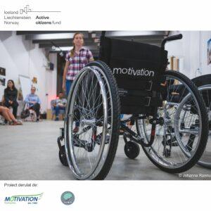 """""""Advocacy pentru accesul în comunitate al utilizatorilor de scaun rulant"""" promovează drepturile persoanelor cu mobilitate redusă  pe plan local și național"""