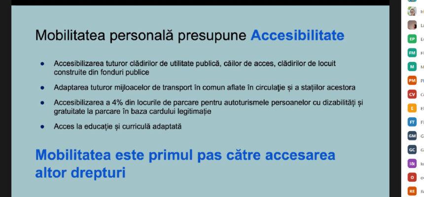 Persoanele cu dizabilități învață să fie pro-active și să-și solicite drepturile în fața autorităților