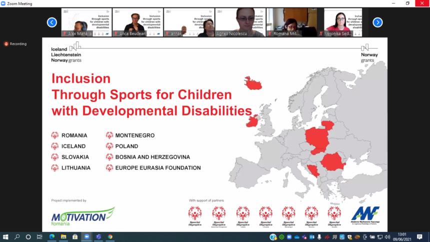 """Proiectul """"Incluziune prin sport pentru copiii cu dizabilități intelectuale"""" promovează egalitatea de șanse prin activități sportive"""