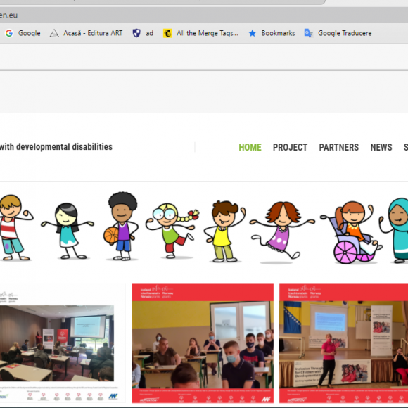 Proiectul internațional ce încurajează incluziunea socială a tinerilor cu dizabilități intelectuale are un website dedicat
